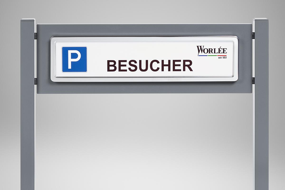 Kundenfoto Parkplatzschild mit Aluminium foliert
