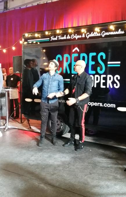 Crêpes Troopers Food Truck, Pascal Obispo et Philippe Lacheau- Téléthon 2018 France Télévision