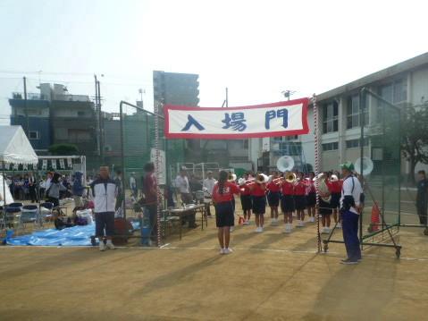 墨江丘中学校 吹奏楽部マーチング