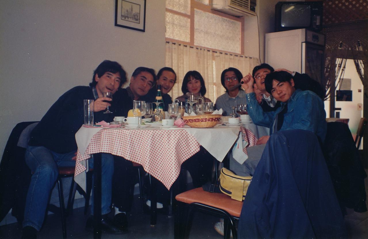 1995.Alcoyのレストランにて/日本人による送迎会