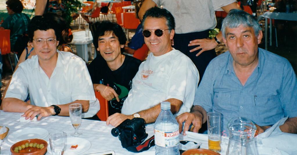 1993.コルドバ講習会にて/ペペロメロ氏(中央)ロマニロス氏(右)