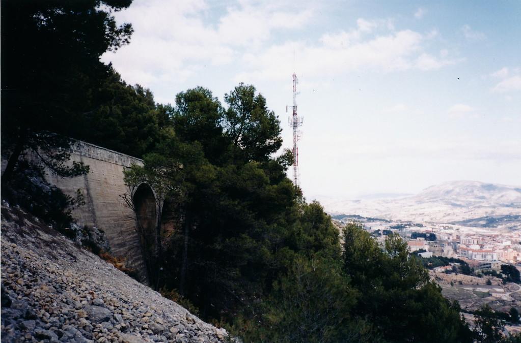 マエストロ/ホセルイス=ゴンサレスのお墓〜アルコイを見渡せる松の大木(1998 散骨場所~Alcoyの山の中腹にて)