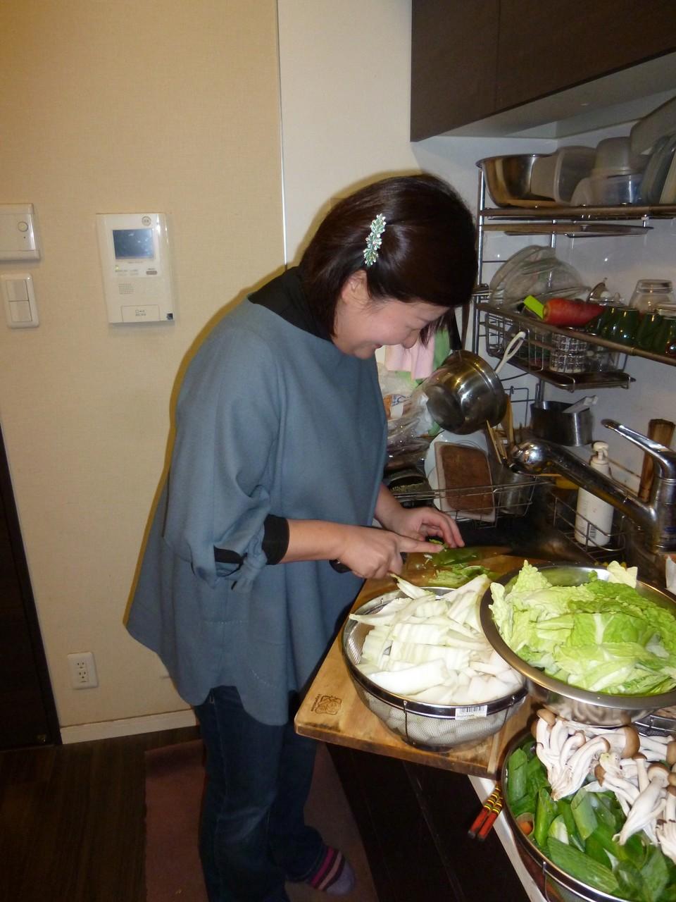 今回は石川さんに調理場をお任せ。ありがとう!