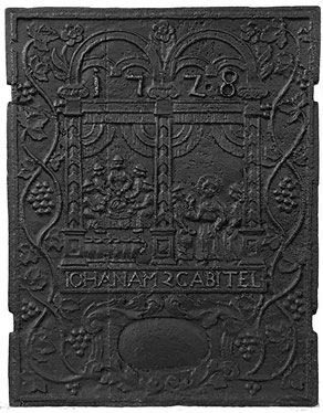 Inv.-Nr. 219   Hochzeit zu Kana, Ofenplatte, xx x xx cm, Saarland, 1. H. 18. Jh