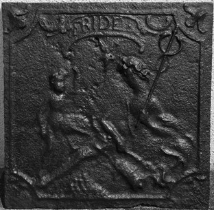 Inv.-Nr. 334   Wiener Frieden, Kaminplatte 47 x 47 cm, Saarland, 1738