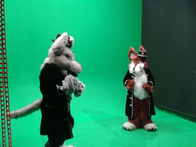 Nero und Rotanes drehen einen Film