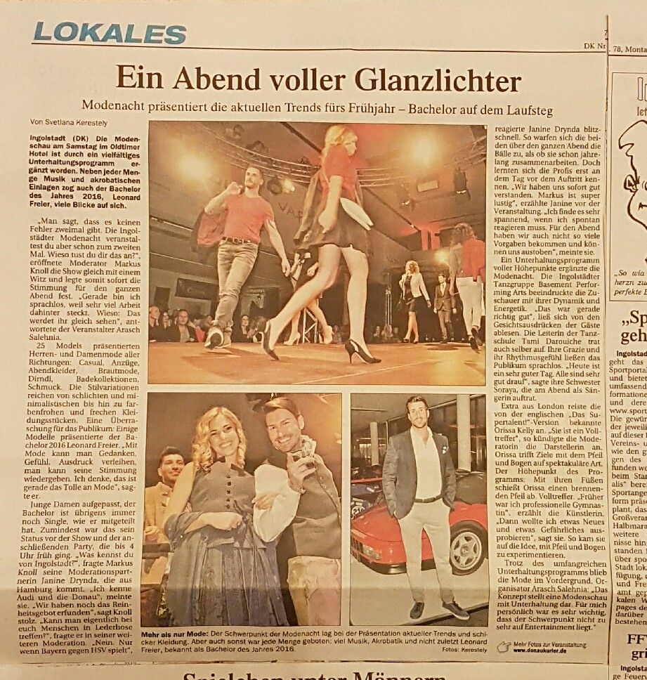 Quelle : Donaukurier Montag, 3.April.2017
