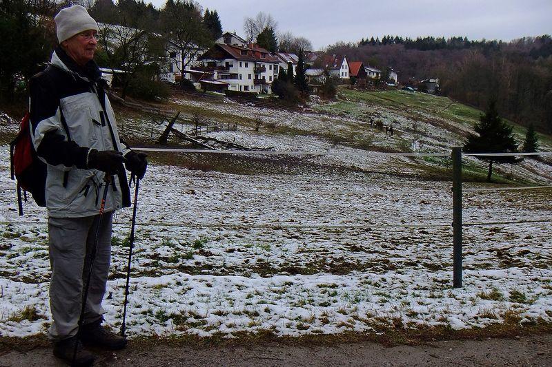 Bei der Vorwanderung mit Schnee