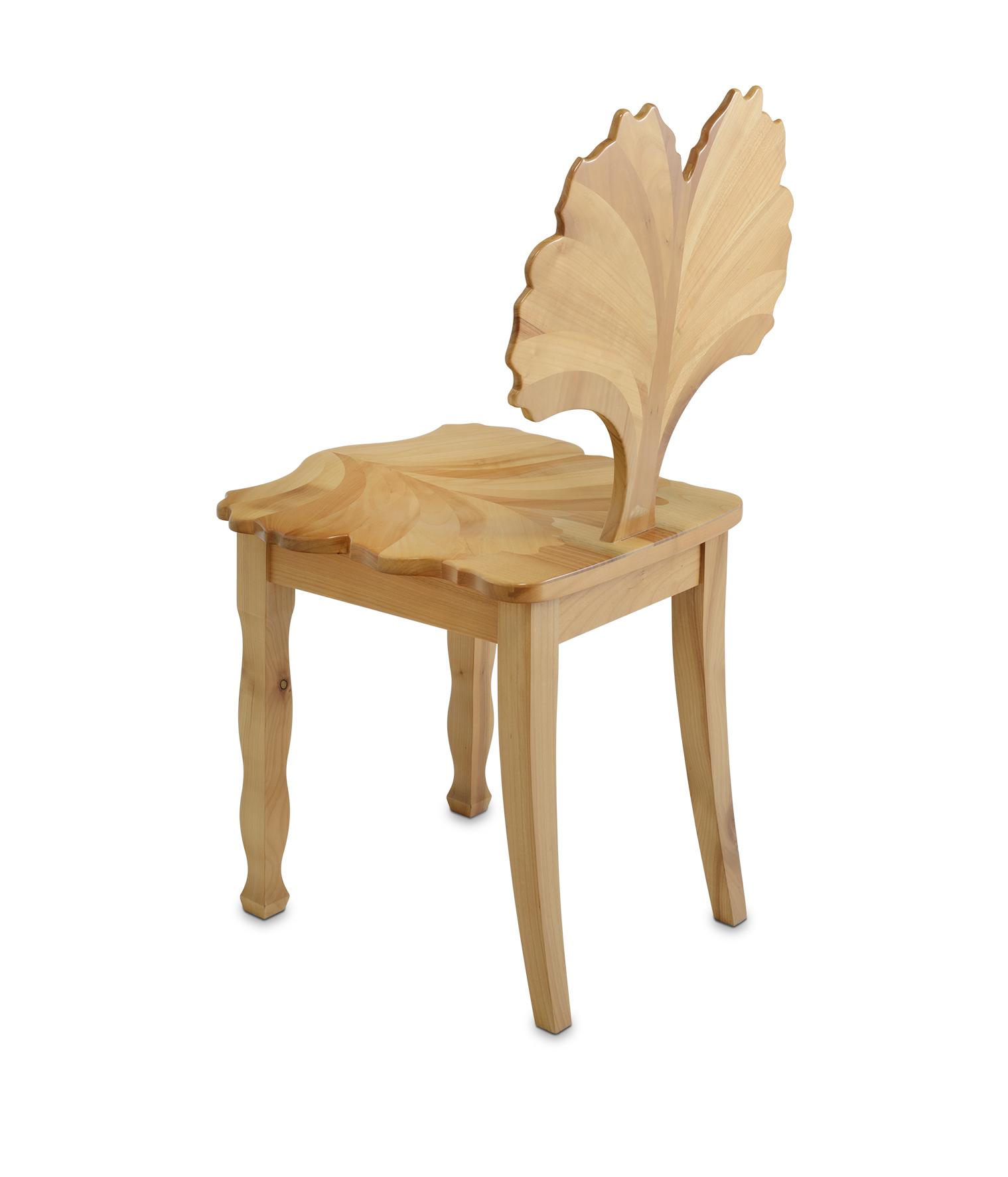 S100 Stuhl, Kirschbaum massiv, lackiert und poliert, H 920 x T 440 x SH 450mm