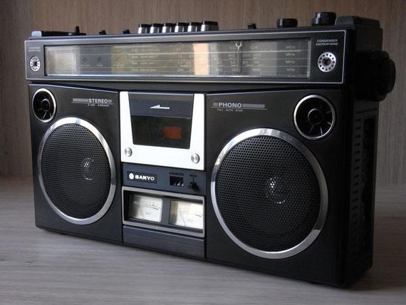 Bild: Sanyo M4500KE,Kassettenrekorder,Kassettenrecorder,Radio,DDR,RFT,Reparatur,Restauration,Defekt,Überholung,Ersatzteile,instandsetzen,reparieren,überholen,aufarbeiten,kaputt