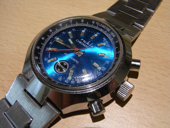 Bild: Ruhla Chronograf (UMF 24-35),blau