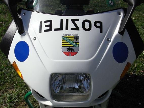 Bild: MZ,Rotax 500 RFCX,Polizei,MZ Polizeimotorrad,Rotax Polizeimotorrad,Eskortenmotorrad,Restauration,Pichler,Verkleidung,Pozilei,Spaß Scheinwerfer,Hella,Scheibe,Spiegel