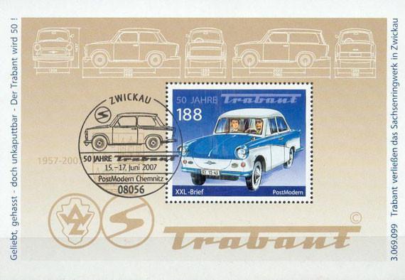 50 Jahre Trabant Gedenkkarte BRD 2007