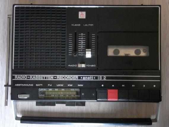 Bild: RFT Anett IS 2,Kassettenrekorder,Kassettenrecorder,Radio,DDR,RFT,Reparatur,Restauration,Defekt,Überholung,Ersatzteile,instandsetzen,reparieren,überholen,aufarbeiten,kaputt