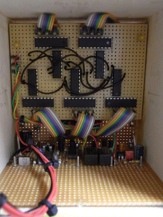 Bild: Kugelfang mit elektronischen Zählwerk,Eigenbau,digital,7-Segment Anzeige,Pistole,Luftgewehr,CO2 Pistole