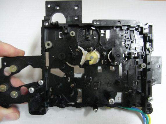 Rückseite: Chassis gereinigt, bereit zur Montage