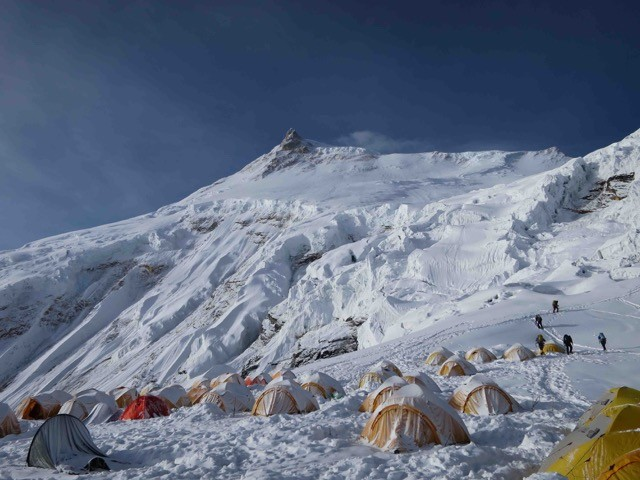 Manaslu Expedition, Manaslu Besteigung