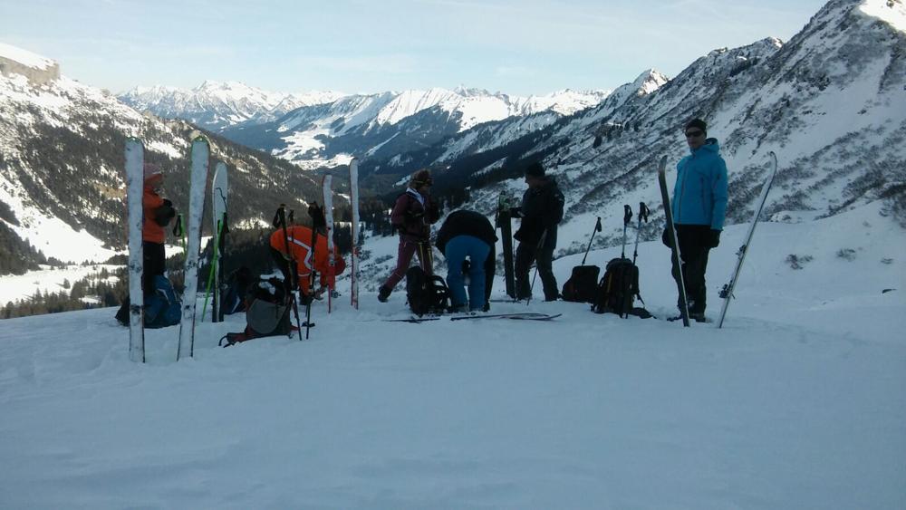 Skitourenkurs im Kleinwalsertal, Skitourenkurs im Allgäu, Skitourenkurs in Oberstdorf, Skitouren im Allgäu,