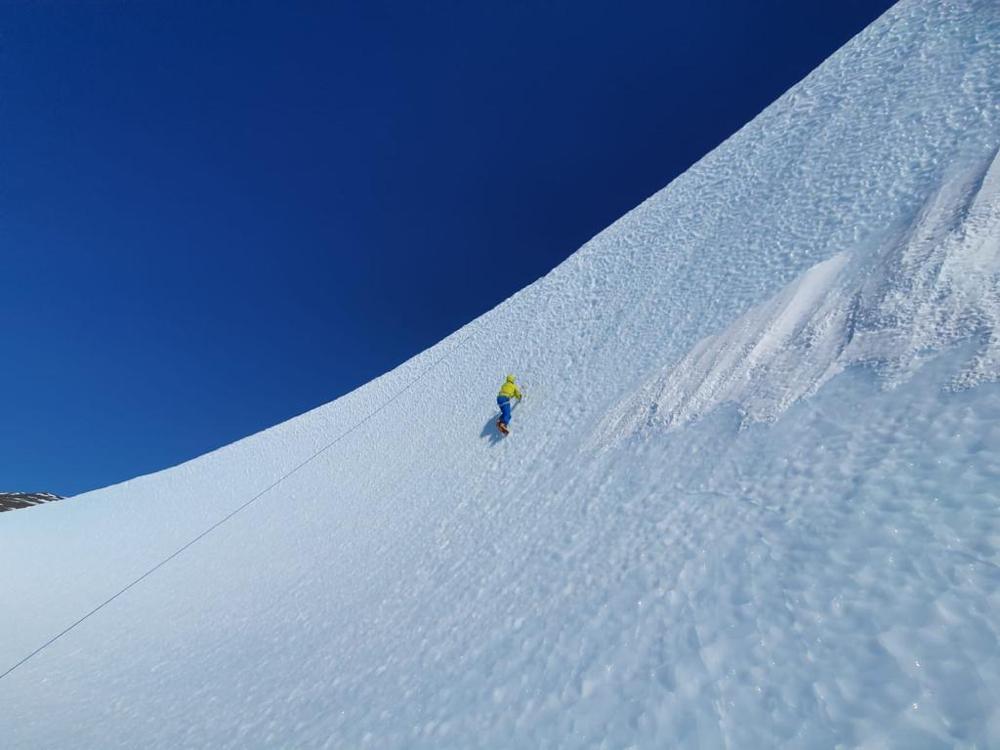 Gipfelerfolg am Mt. Vinson, Mt. Vinson Antarktis, Bergsteigen in der Antarktis, Höchster Berg der Antarktis
