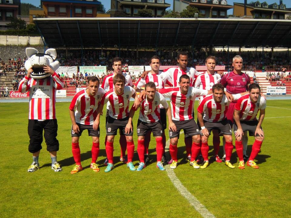 Laudio 2012-13. Partido de vuelta de la final por el ascenso a 2ªB ante el Mar Menor.