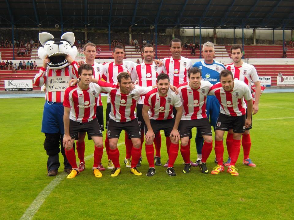 Laudio 2012-13. Partido de vuelta de las semifinales por el ascenso a 2ªB ante el Varea.