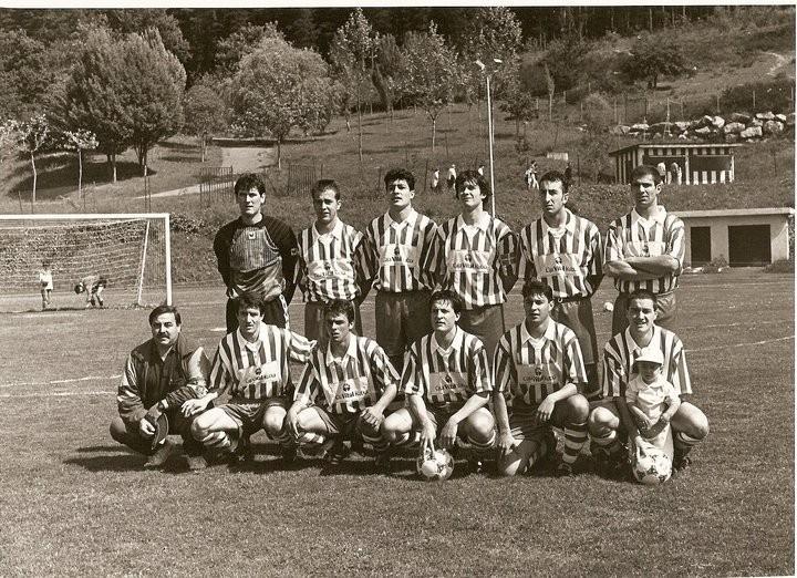 Llodio 1995-96. Partido del ascenso a 3ª División ante el Salvatierra (1-0)