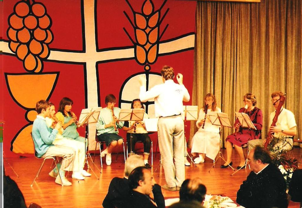 Primiz im Pfarreizentrum Brig mit Blockflötenensemble
