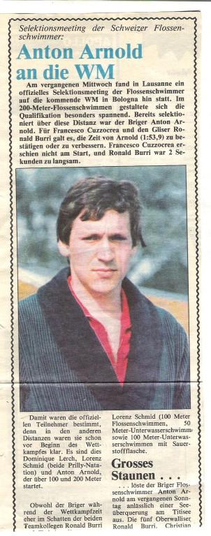 1980 WM Teilnahme in Bologna (I)