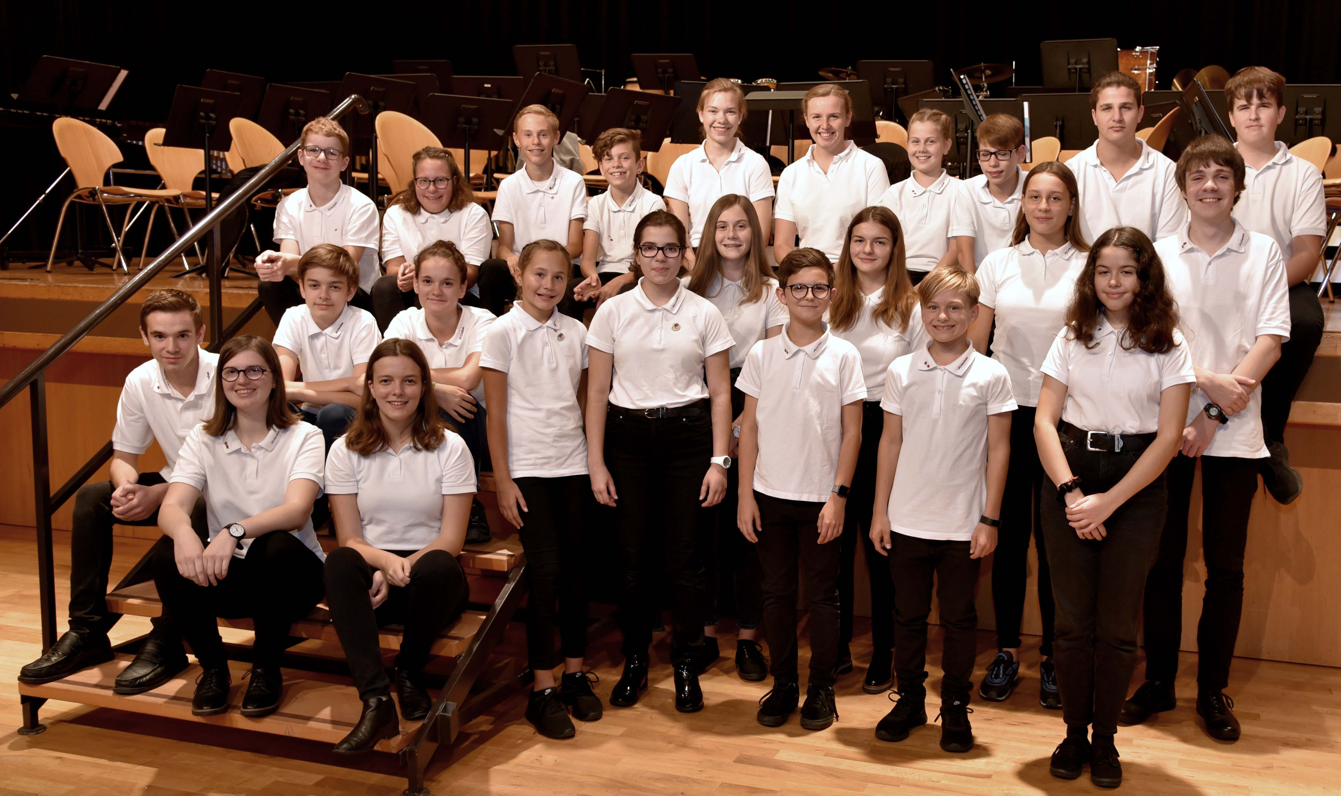 Jugendharmonie JHE in ihrer Uniform