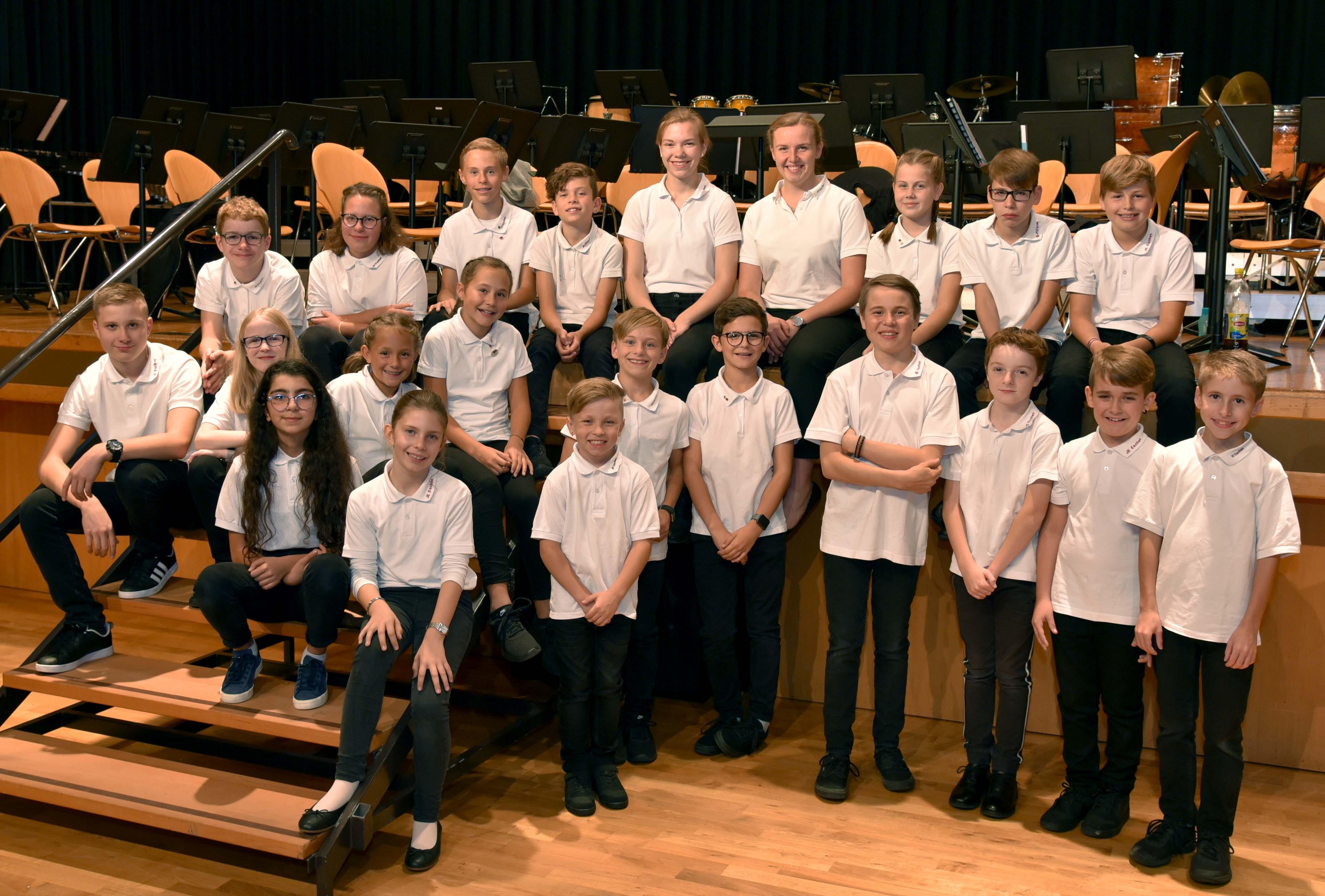 Gruppenbild des Jugendensembles Eschen JEE