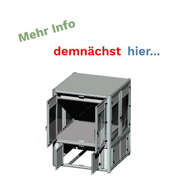 Einzelnes Modul einer Maschinenbauzelle aus Alu Konstruktionsprofil