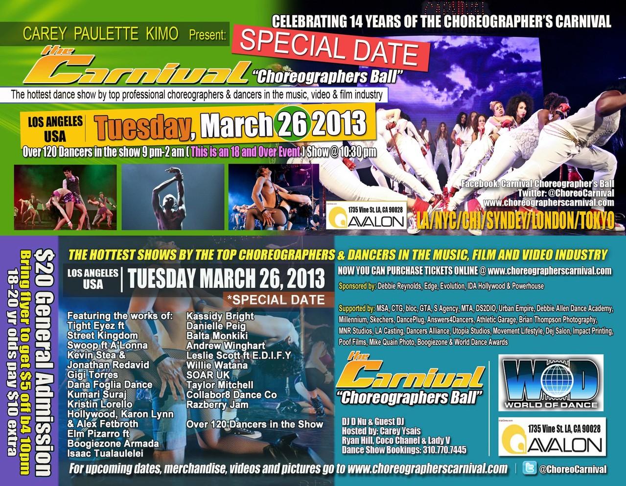 Carnival 3/13 E.D.I.F.Y. Message Movement