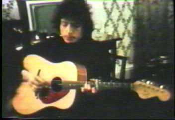 Bob Dylan mit einer Fender King