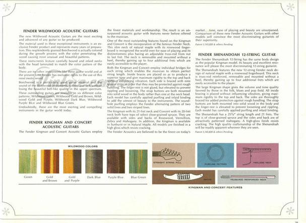 Aus dem 1965er Fender Katalog