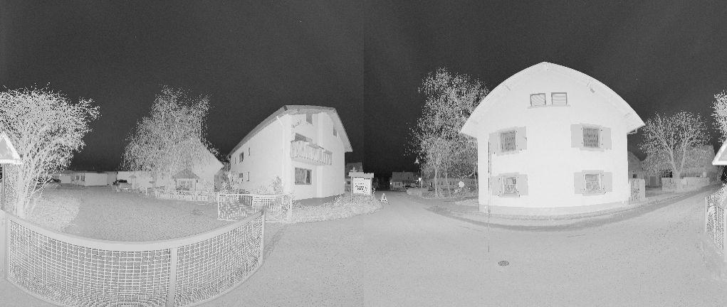 3D Scan von Fassaden s/w