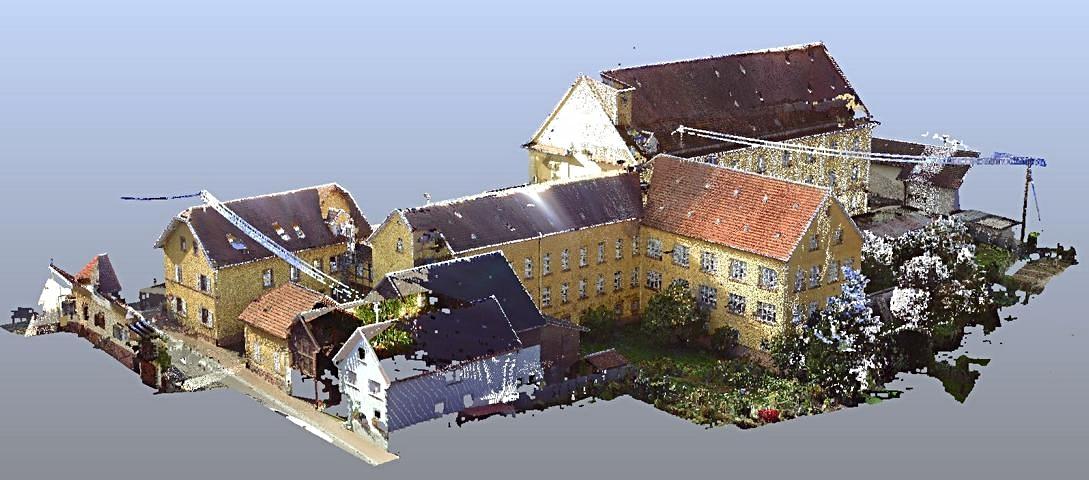 3D Scan ehem. Fabrik Ansicht farbig