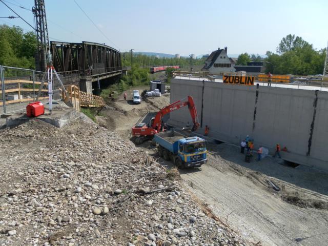 Brückenverschiebung Bahn