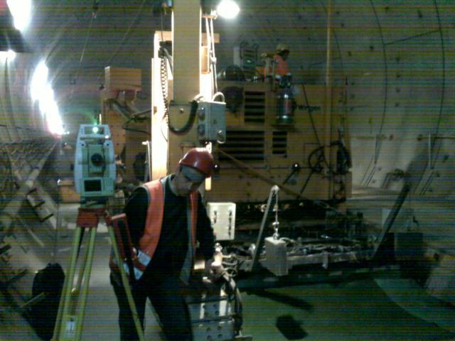 Maschinensteuerung Tunnelausbau