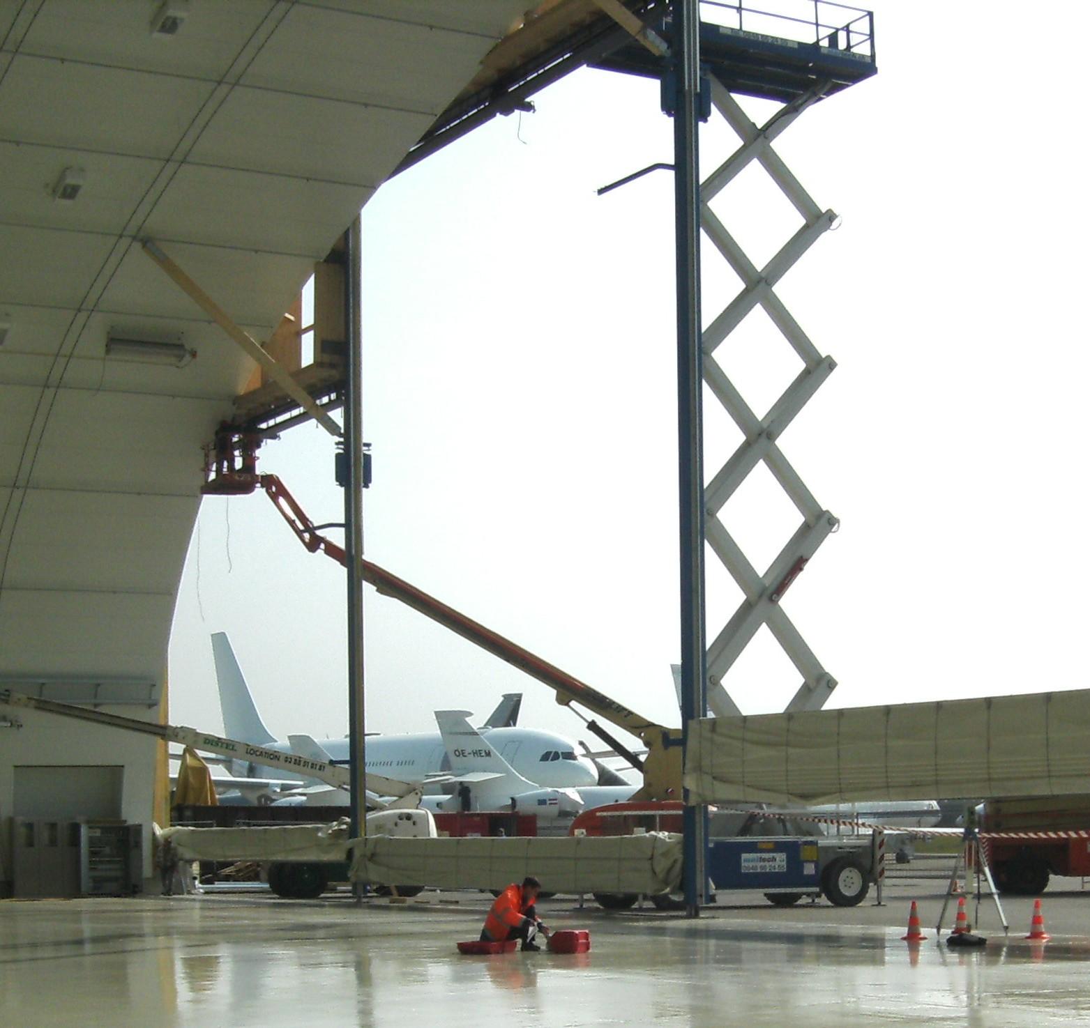 Deformationskontrolle Hangar