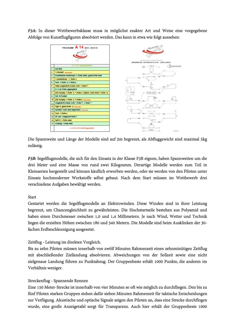 Auszug Festschrift - Sektion Modellflug