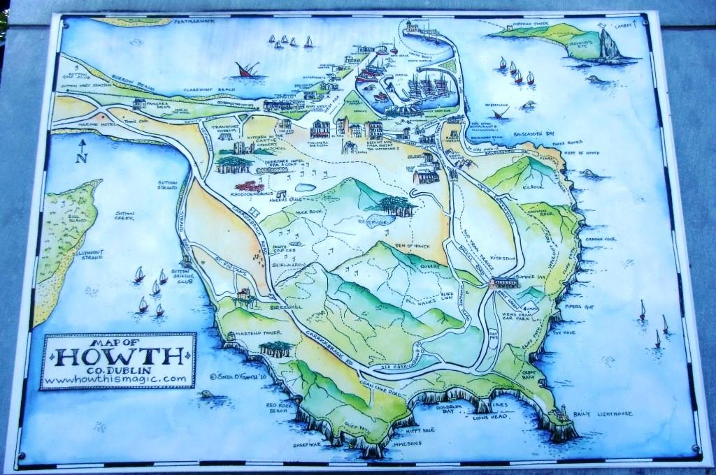 Stadtplan von Howth