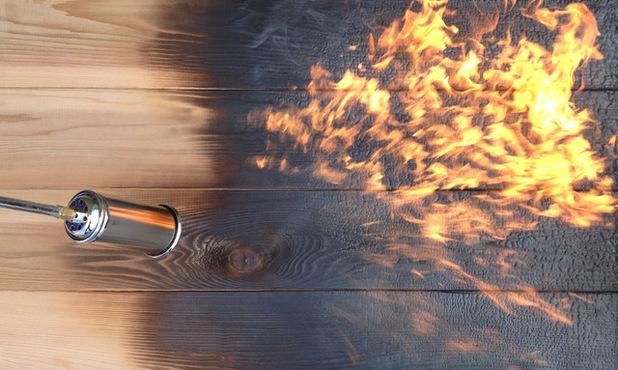 Passage du bois à la flamme