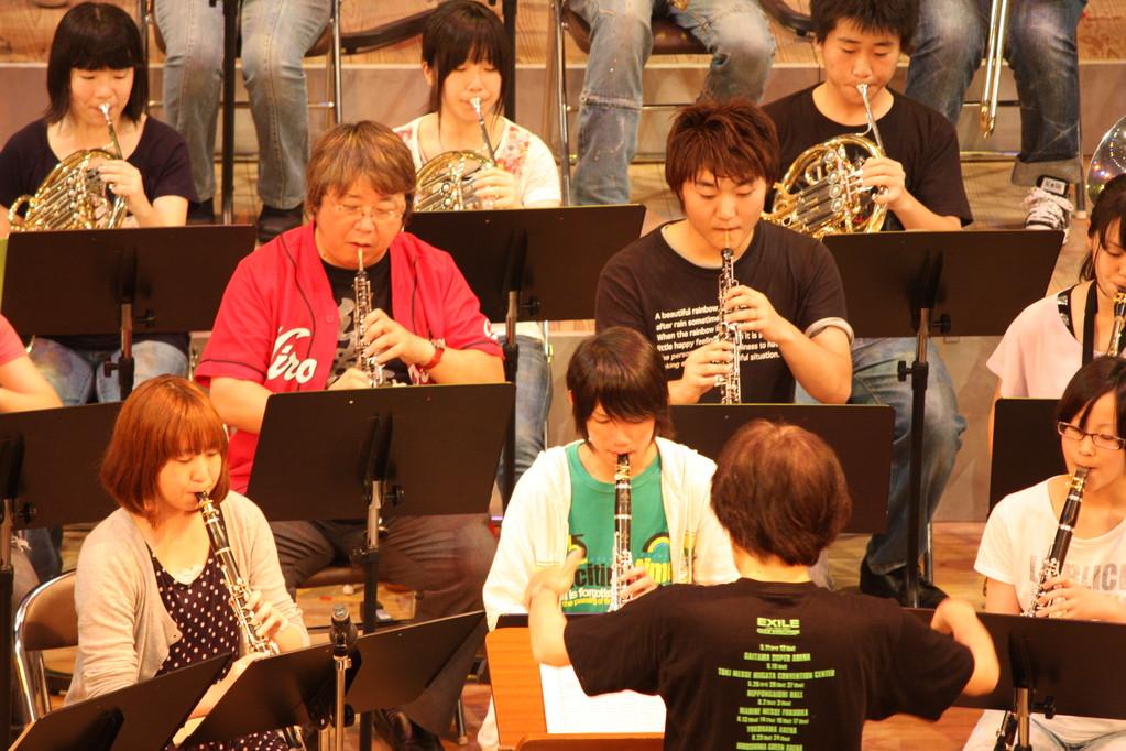 北九州市 私立東筑紫学園吹奏楽部定期演奏会 2010年8月11日