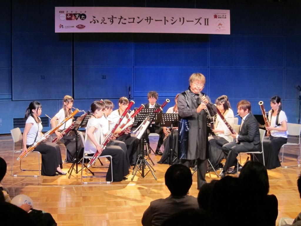 2011年の秋 福岡でも平成音楽大学の学生の皆さんと共演!カラーモードは負けない(笑)