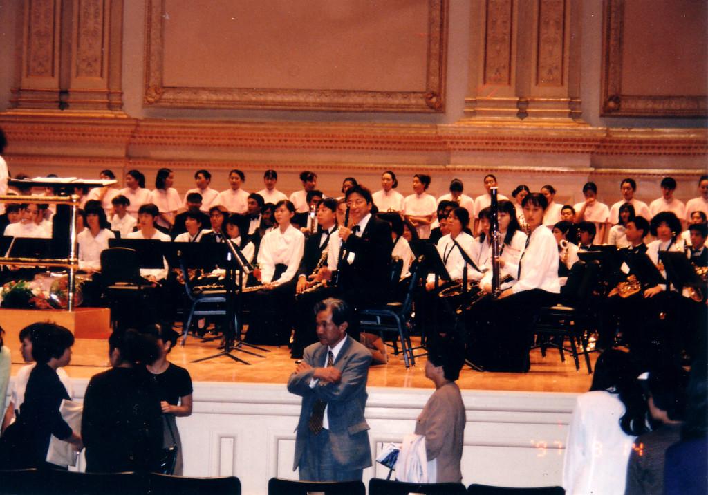 1997年9月14日 ニューヨーク・カーネギーホール 熊本音楽短期大学演奏会♪