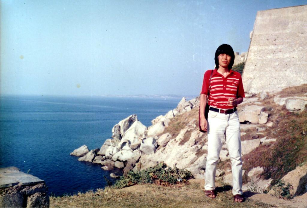 フランス、地中海の島、コルシカ島 キャルビにて 1985年 8月