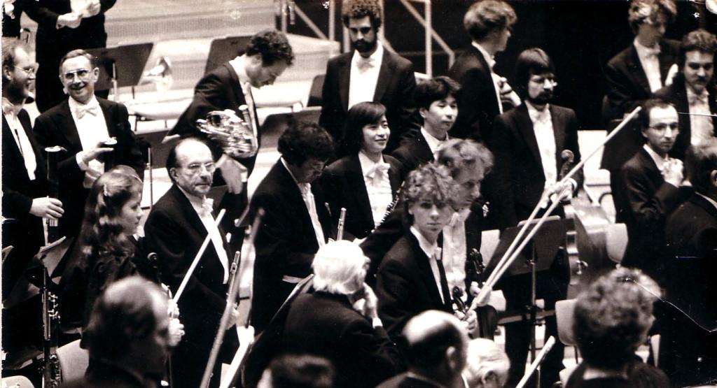 das sinfonie orchester berlin で吹いてた頃の写真です。1986年12月25日