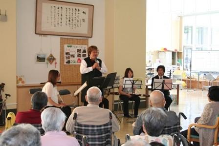 球磨村での老人ホームでの管楽アンサンブルのコンサート!2008年9月25日