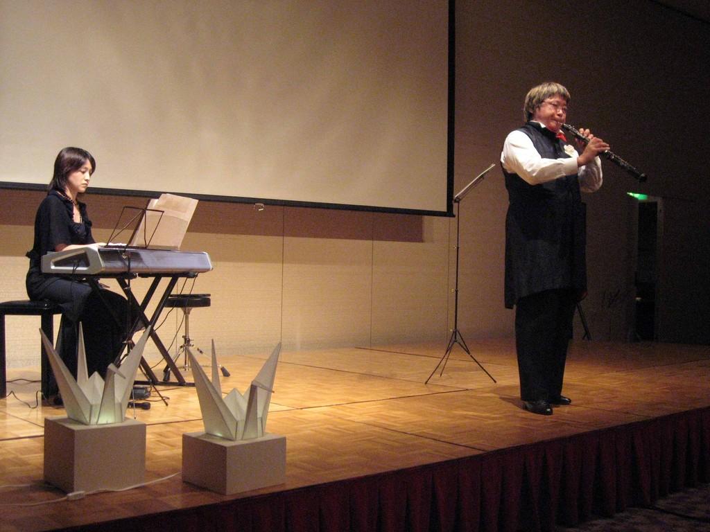 私も平和のメッセージを演奏で!2007年8月6日