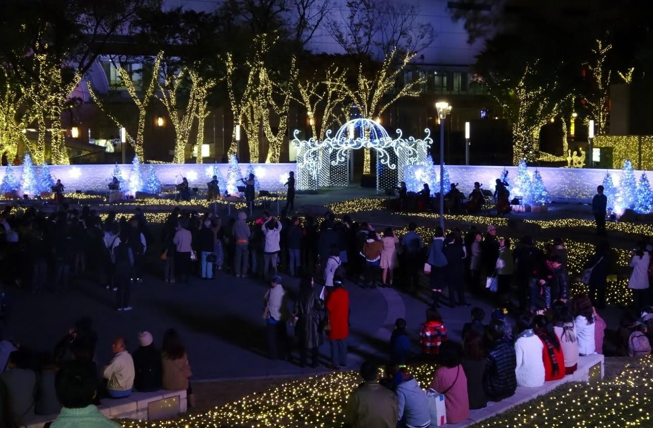 福岡市中央区天神 警固公園 クリスマスイルミネーション点灯式
